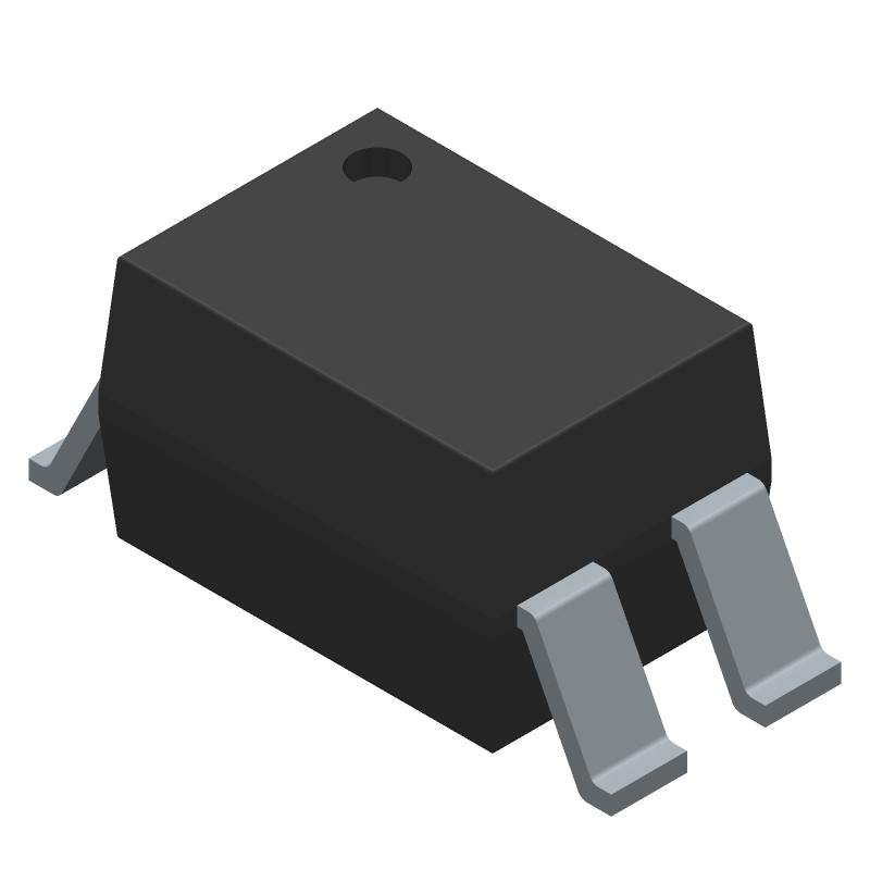 Sharp Microelectronics PC817X1NIP1B (Small Outline Packages) 3D model isometric projection.