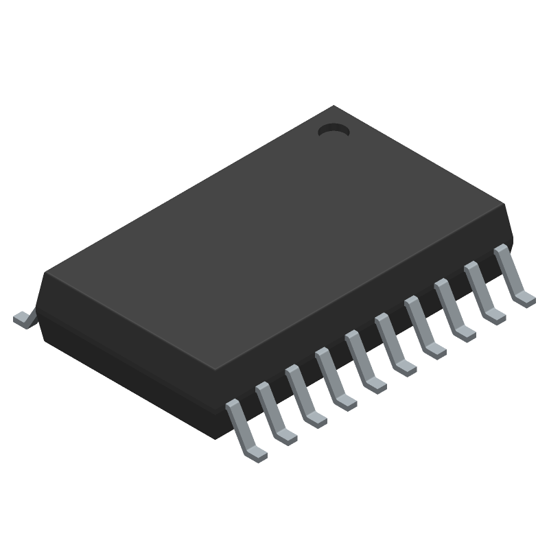 TITAN MICRO ELECTRONICS TM1637 (SOP) (Small Outline Packages) 3D model isometric projection.