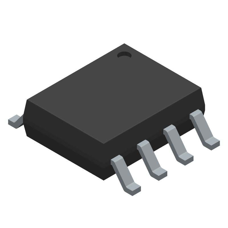 Microchip MCP2551-I/SN (Small Outline Packages) 3D model isometric projection.
