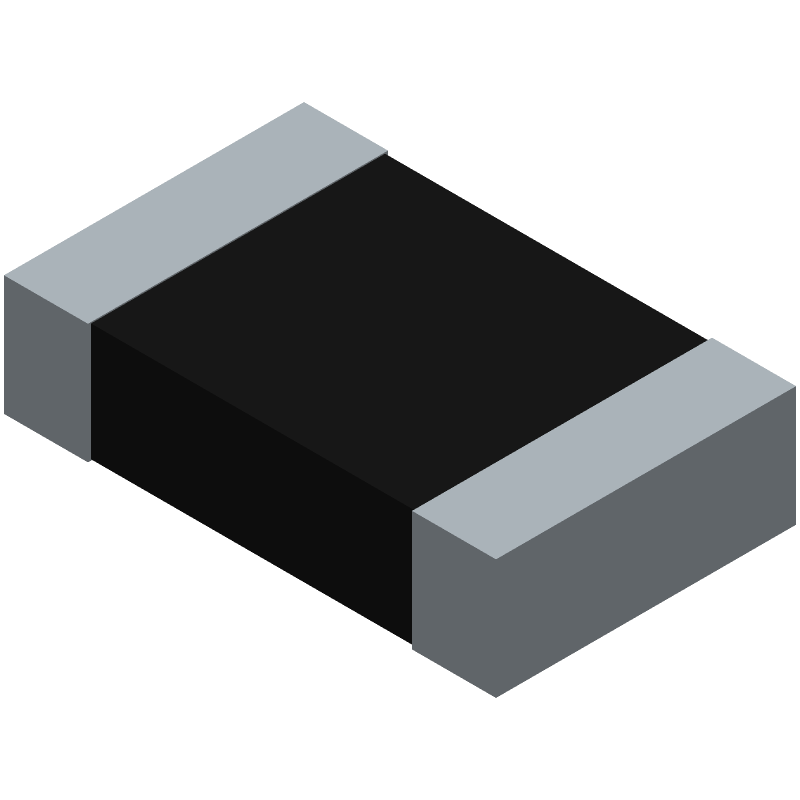 Vishay CRCW080510K0FKEA (Resistor Chip) 3D model isometric projection.