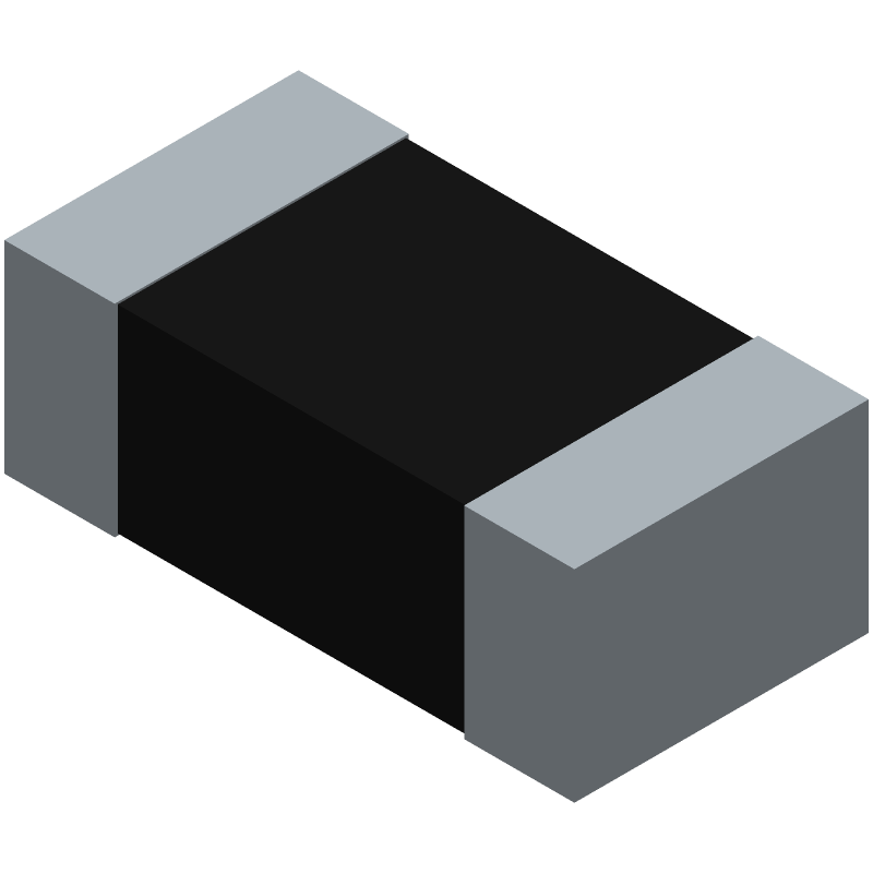 TE Connectivity CPF0603B100KE (Resistor Chip) 3D model isometric projection.