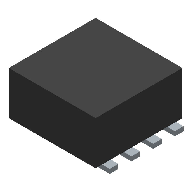 Texas Instruments TPS61022RWUR (Other) 3D model isometric projection.