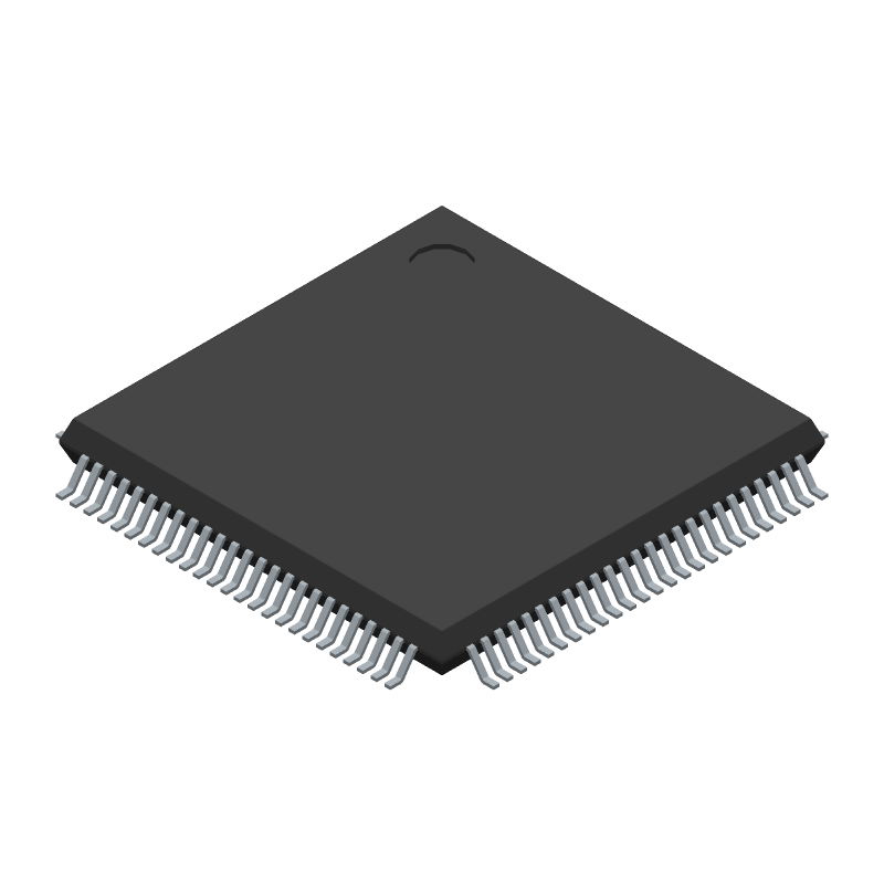 STMicroelectronics STM32F407VET6 (Quad Flat Packages) 3D model isometric projection.