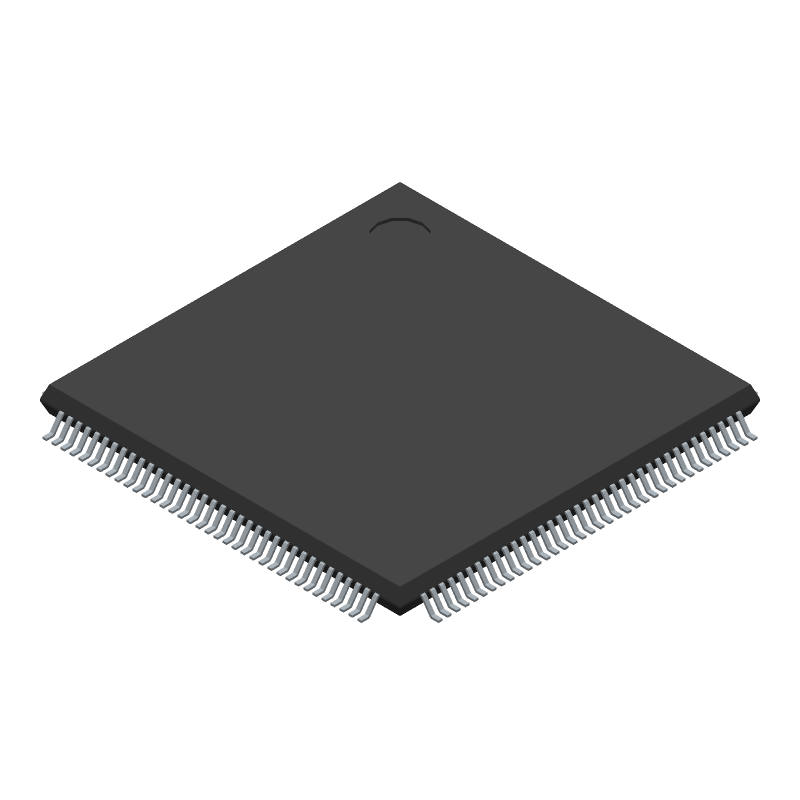 STMicroelectronics STM32F407ZGT6 (Quad Flat Packages) 3D model isometric projection.