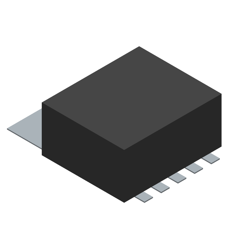 National Electronics LM2596S-5.0/TR (Other) 3D model isometric projection.