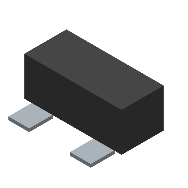 MULTICOMP BSS138-7-F (Other) 3D model isometric projection.