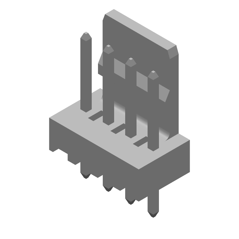 Molex 22-27-2041 (Other) 3D model isometric projection.