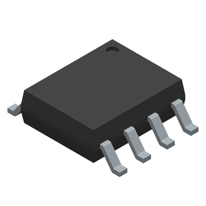 Texas Instruments SN65HVD230QDR (Small Outline Packages) 3D model isometric projection.