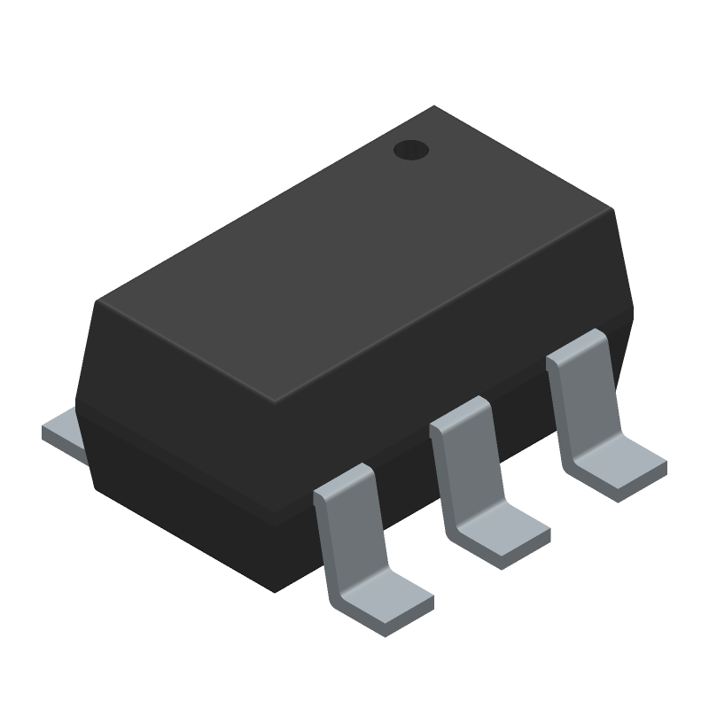 STMicroelectronics USBLC6-2SC6Y (SOT23 (6-Pin)) 3D model isometric projection.