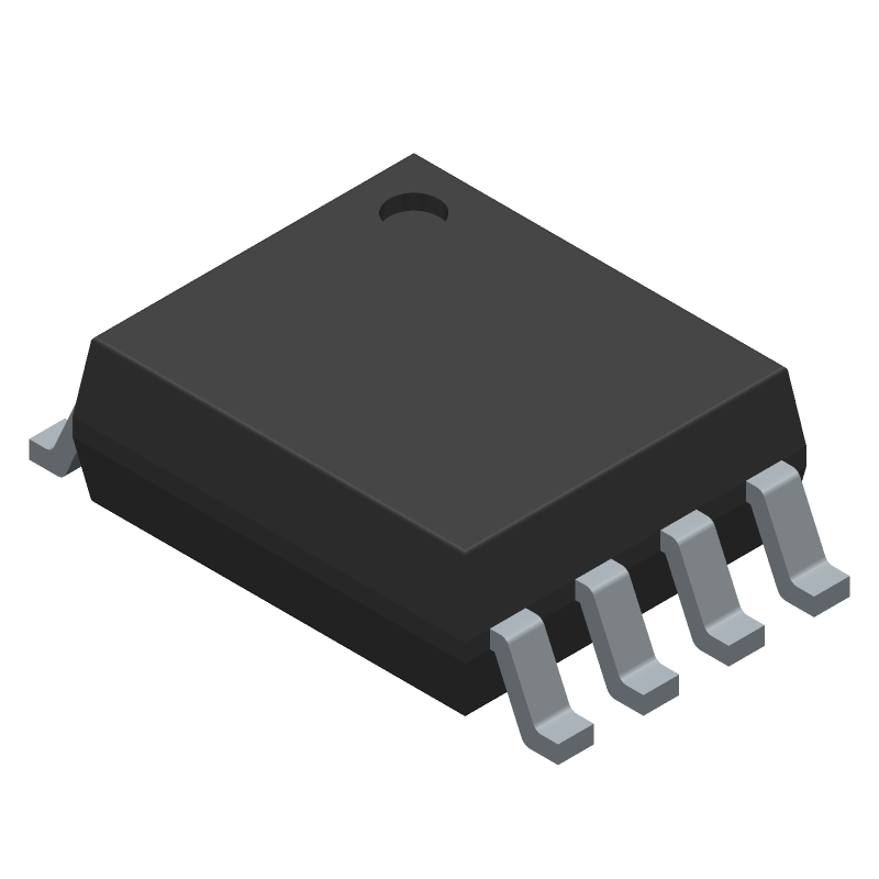 Texas Instruments TXS0102DCUR (Small Outline Packages) 3D model isometric projection.