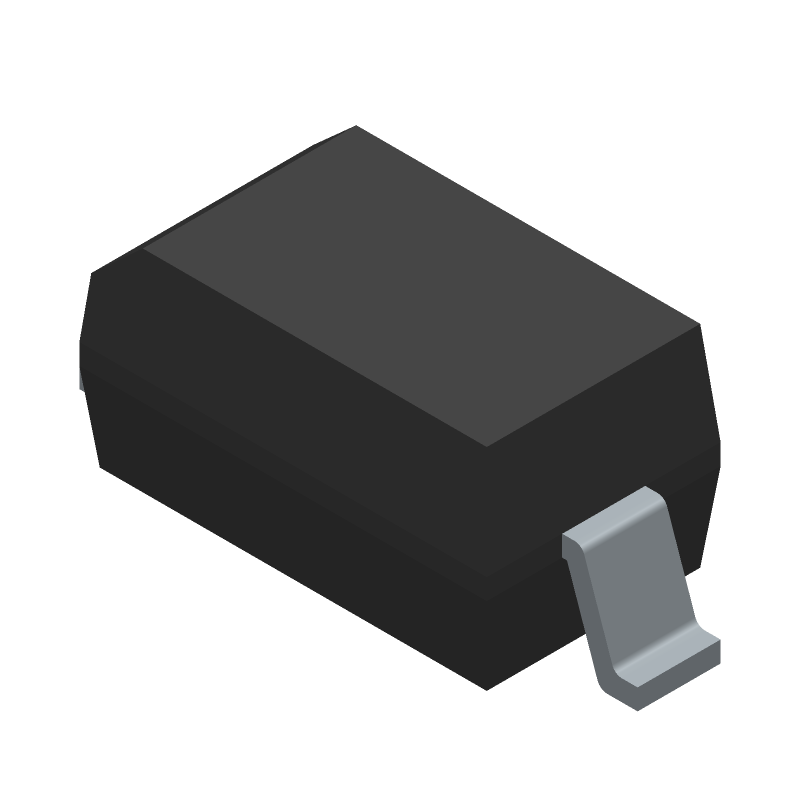 Diodes Inc. 1N5819HW (Small Outline Diode) 3D model isometric projection.