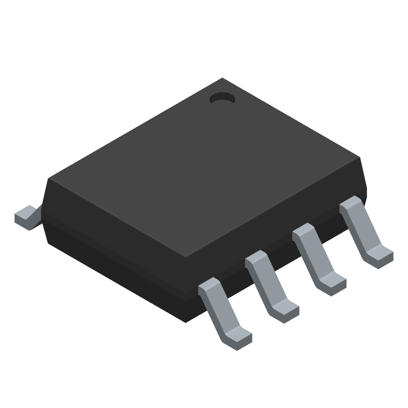 Infineon IR2153SPBF (Small Outline Packages) 3D model isometric projection.