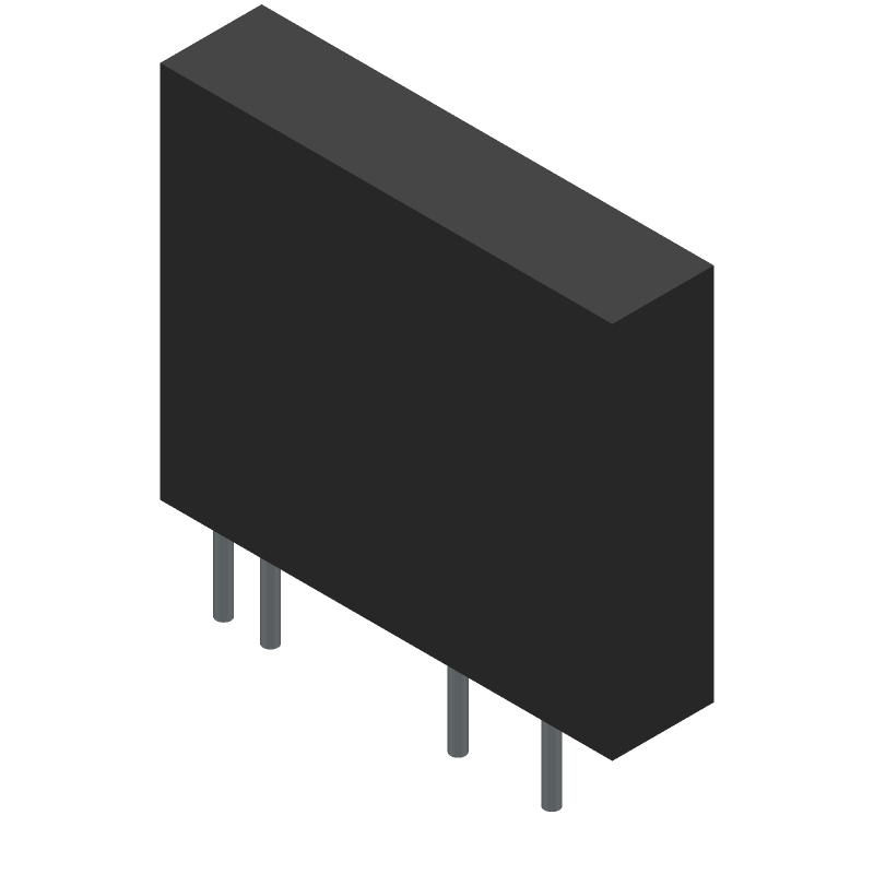Omron Electronics G3MB-202P-4 DC5 (Other) 3D model isometric projection.
