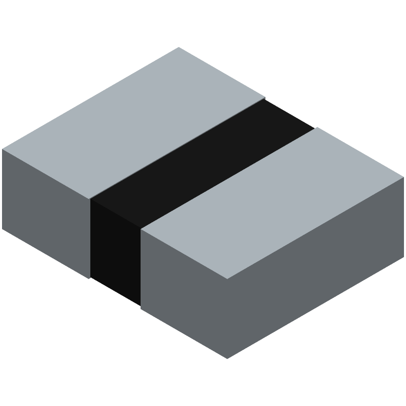 NDK NX3225GD-8MHZ-STD-CRA-3 (Resistor Chip) 3D model isometric projection.