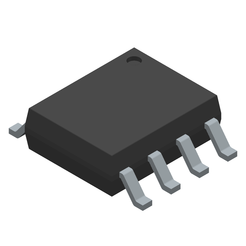Monolithic Power Systems (MPS) MP1584EN-LF-Z (Small Outline Packages) 3D model isometric projection.