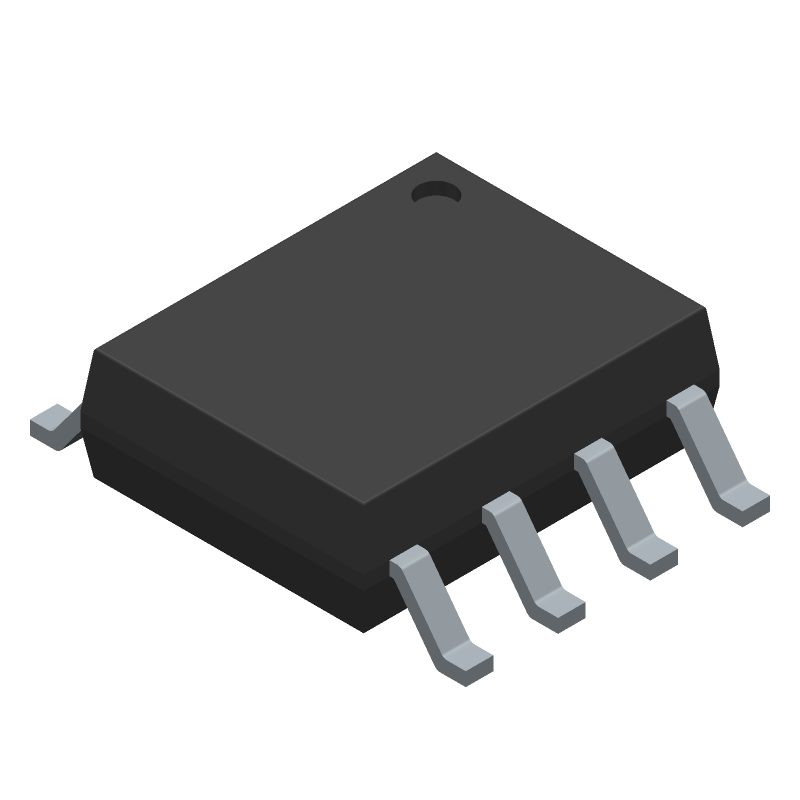 STMicroelectronics LM358DT (Small Outline Packages) 3D model isometric projection.