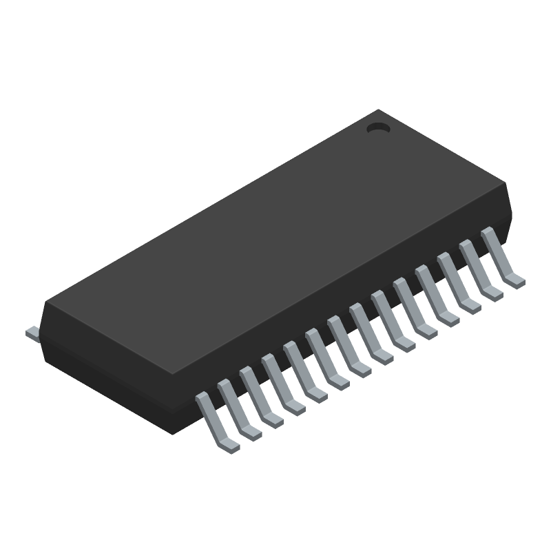 JFD IC FE1.1S (Small Outline Packages) 3D model isometric projection.