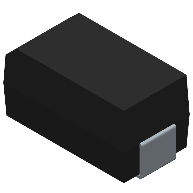 ON Semiconductor SS14 (Diodes Moulded) 3D model isometric projection.