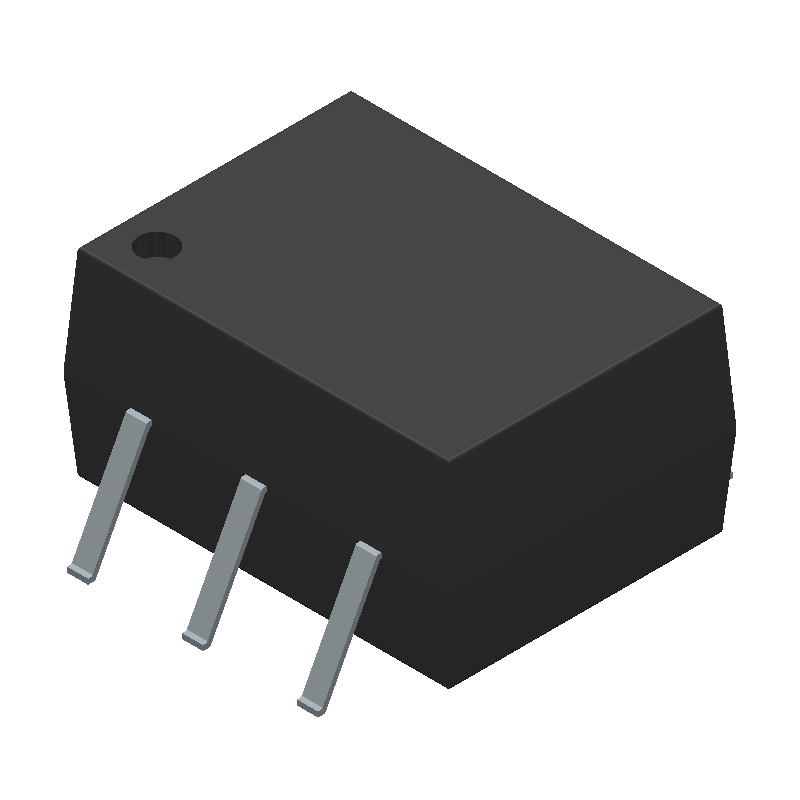 ON Semiconductor MOC3021SM (Small Outline Packages) 3D model isometric projection.